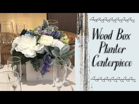 Wood Box Planter Centerpiece | Wedding Centerpiece
