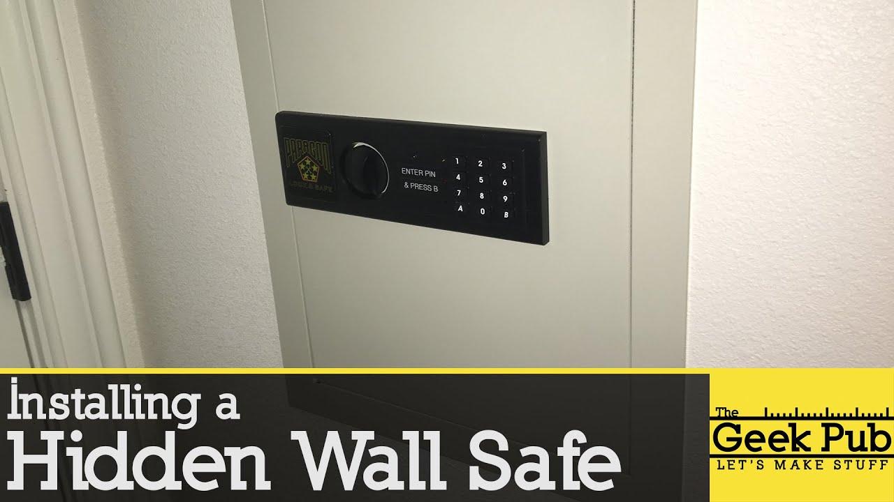 Install A Hidden Wall Safe Youtube