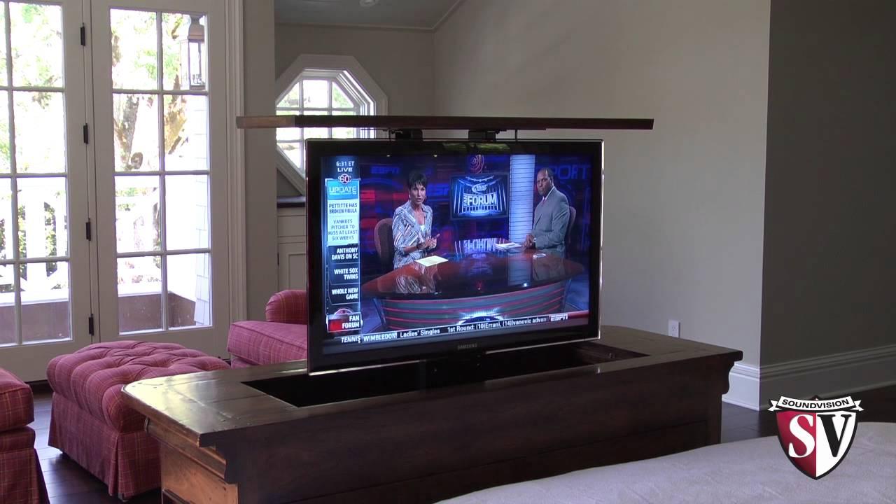 Motorized TV Lift  YouTube