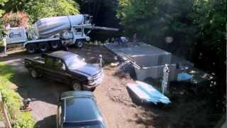Concrete Slab Floor Pour - 16 - My Garage Build Hd Time Lapse
