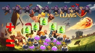 Clash Of Clans - EPIC ALL MAX LEVEL GOLEM RAID (9) + 5 Max JUMP SPELLS = OVER 1 MILLION LOOT!!!!