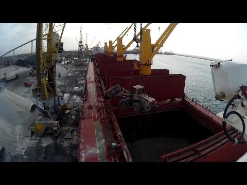 Huge loader on ship