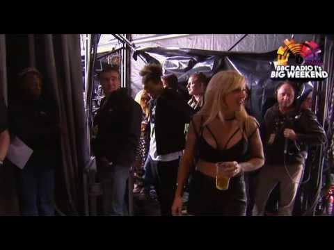 Ellie Goulding backstage at Radio 1's Big Weekend