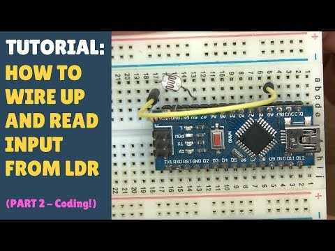 TUTORIAL: How To Wire Up, Code & Read Input From An LDR Light Dependent Resistor Arduino (Part 2)