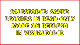 Salesforce: Saved Records in R…