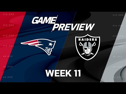 New England Patriots vs. Oakland Raiders | NFL Week 11 Game Preview | Move the Sticks