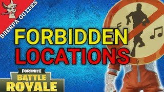 Dance in Different Forbidden Locations Guide | Battle Pass Season 3 Week 2 | Fortnite Battle Royale