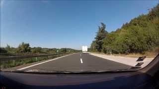 Bułgaria - wjazd do Warny od południa i przejazd autostrada A2