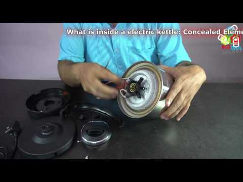 What is inside a electric kettle: Concealed Element, Thermostat & Switch