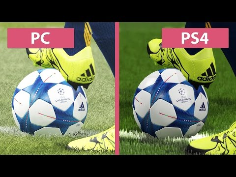 PES | Pro Evolution Soccer 2016 – PC vs. PS4 Graphics Comparison