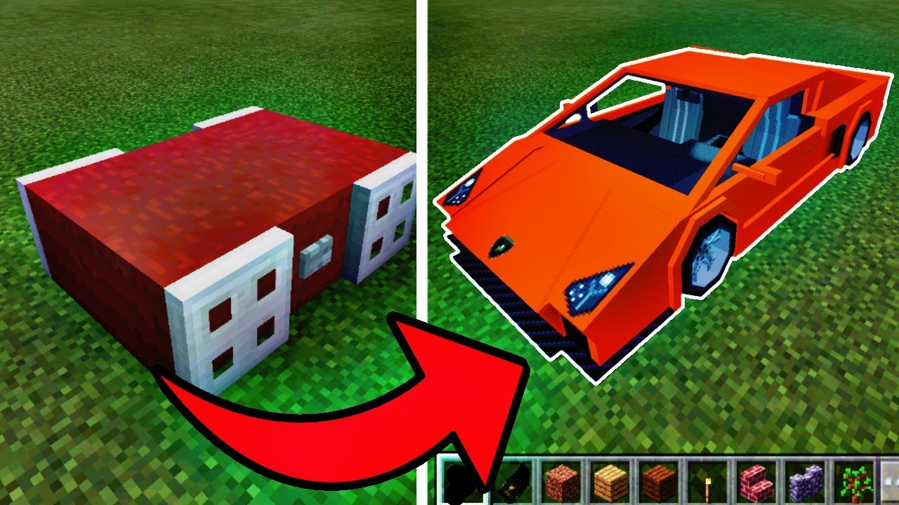 how to make a working car in minecraft pocket edition youtube. Black Bedroom Furniture Sets. Home Design Ideas
