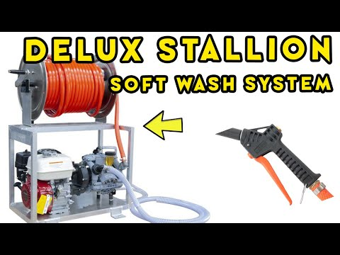 FIELD TESTING the NEW DELUX® STALLION GAS POWERED SOFT WASH SYSTEM WITH TITAN HOSE REEL