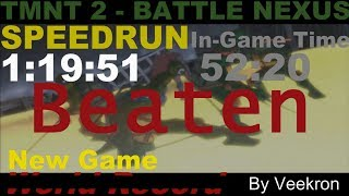 TMNT 2: Battle Nexus(PC) - Speedrun NG Any% in 1:19:51 (Former WR)