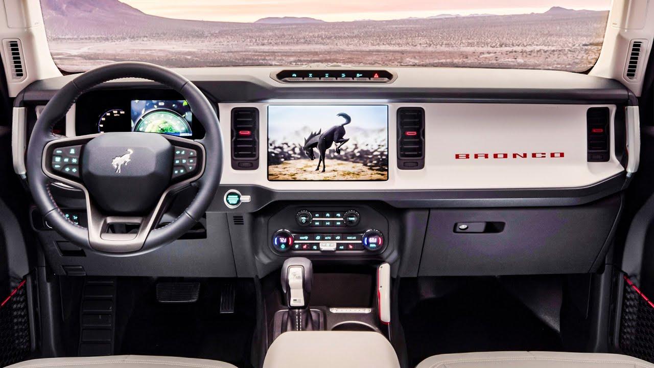 2021 Ford Bronco Interior - 2-door and 4-door - YouTube