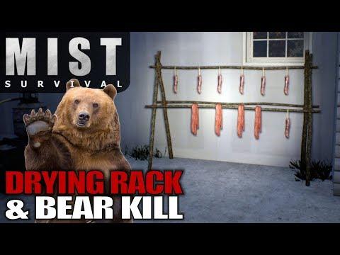 DRYING RACK & BEAR KILL | Mist Survival | Let's Play Gameplay | S01E10