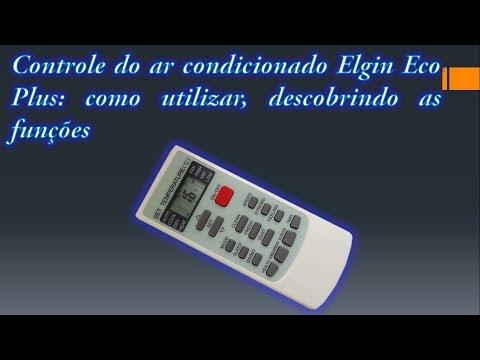 Controle do ar condicionado Elgin Eco Plus: como utilizar, descobrindo as funções