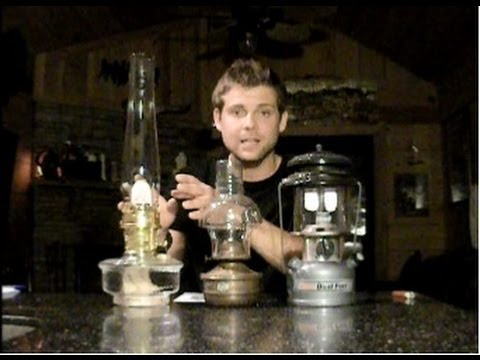 Pressure Gas Coleman vs Oil Lamp vs Aladdin Oil Lamp - YouTube