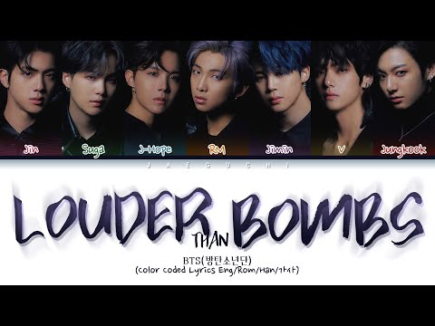 BTS - Louder than bombs (w/Troye Sivan) (Color Coded Lyrics Eng/Rom/Han/가사)