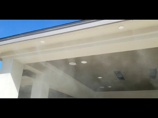 Residential Mist Cooling Installation by MCS Austin