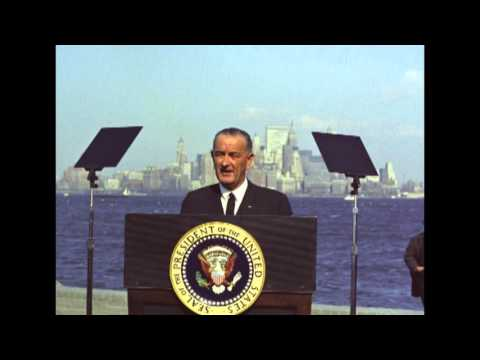 LBJ Remarks on the Signing of the 1965 Immigration & Nationality Act
