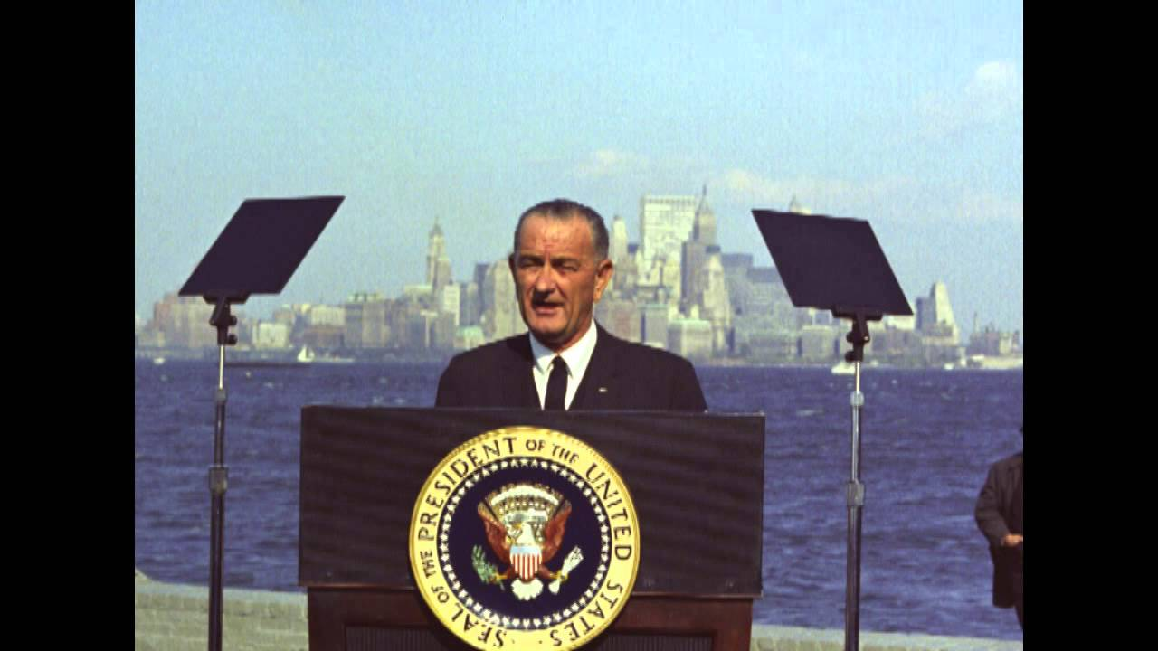 LBJ Remarks On The Signing Of The 1965 Immigration Nationality Act