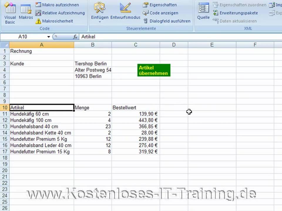 Excel Vba Mit Vba Befehl Im Makro Das Bildschirm Flackern