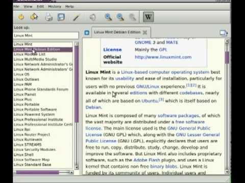 Golden Dictionary Ubuntu Wikipedia Stand Alone Wiki Application