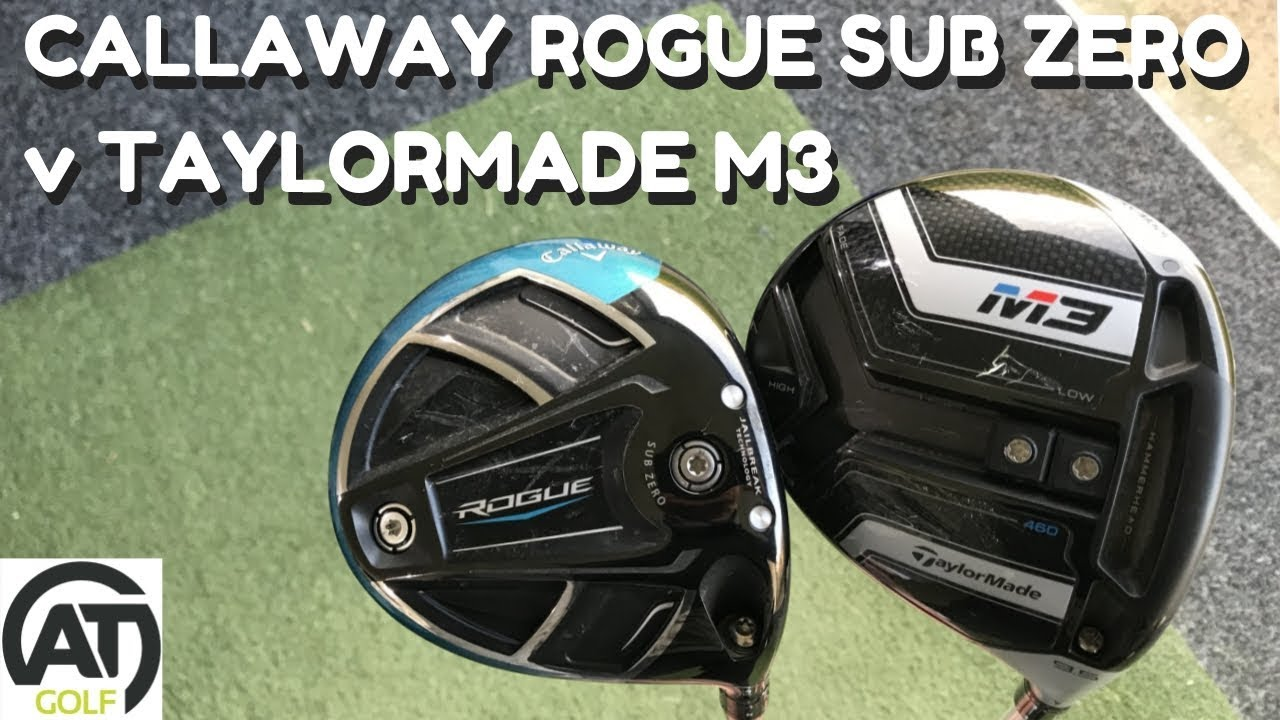 CALLAWAY ROGUE SUB ZERO v TAYLORMADE M3 : LOW SPIN DRIVER BATTLE