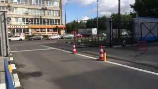 Работа откатных ворот в ускоренном видео(Проем ворот 9 метров., 2015-09-09T19:07:19.000Z)