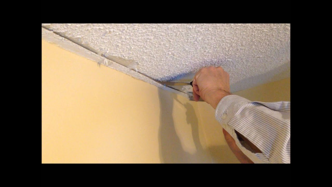 How to repair a stucco ceiling crack and re attach drywall tape to