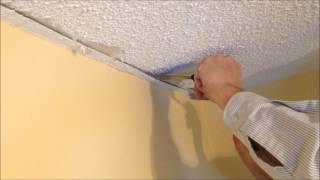 How to repair a stucco ceiling crack and re attach drywall tape to drywall
