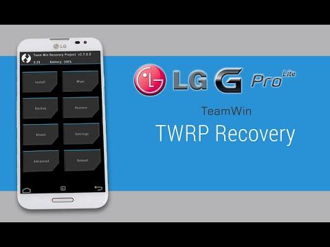 Instalar TWRP al LG G Pro Lite