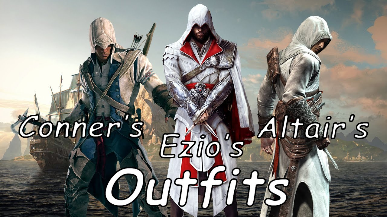 Assassin's Creed 4 : Black Flag - How To get Altair's, Conner's And Ezio's  Outfits (AC4) - YouTube