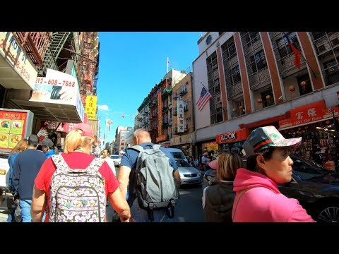 ⁴ᴷ Walking Tour of Chinatown, Manhattan, NYC (Mott Street, Bowery, Canal Street, Grand Street)