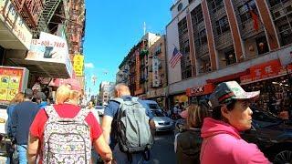 ⁴ᴷ Walking Tour of Chinatown, Manhattan, NYC (Mott Street, Bowery, Canal Street, Grand Street)