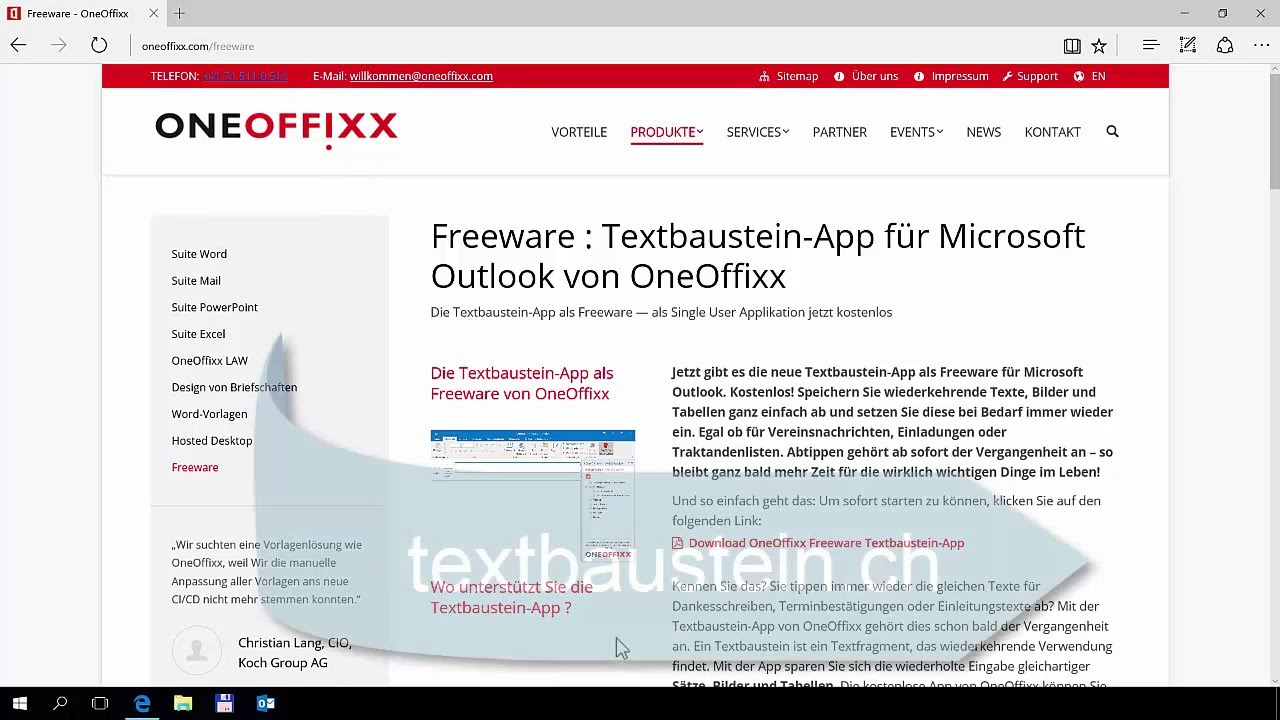 Video: Freeware Textbausteine in Outlook - OneOffixx