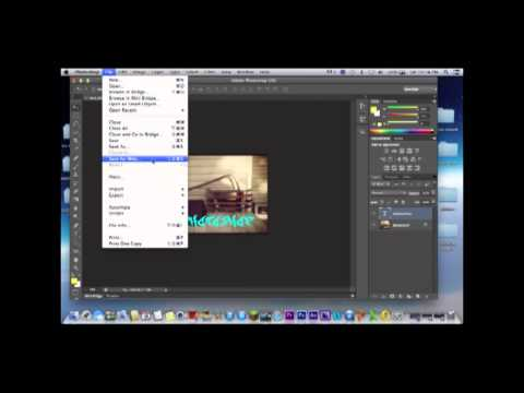 how to export a photo from photoshop