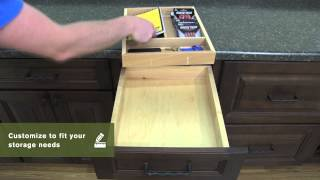Schuler Cabinetry: Removable Wooden Drawer Organizers, Kitchen Storage Part 14