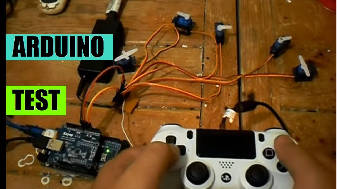 ARDUINO + PS4 control TEST