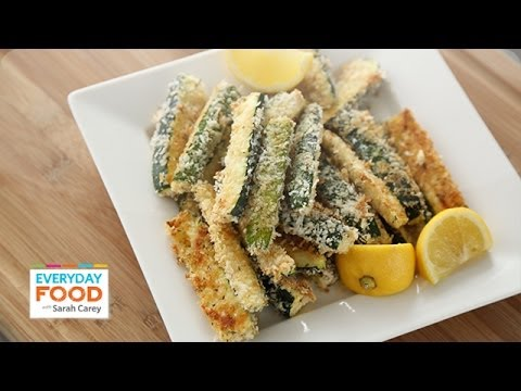 Baked Panko Parmesan Crusted Zucchini Fries Everyday Food with Sarah Carey