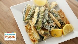 Baked Panko Parmesan Crusted Zucchini Fries - Everyday Food with Sarah Carey