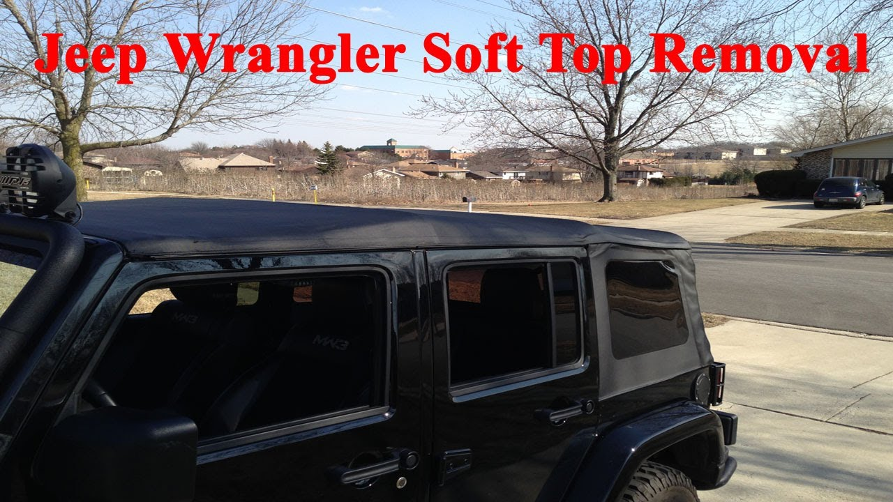 how to put down 4 door jeep wrangler soft top with one person youtube. Black Bedroom Furniture Sets. Home Design Ideas