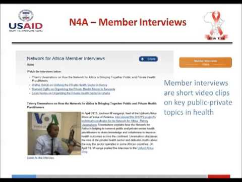 Network for Africa: A Virtual Community of  African Public and Private  Sector Leaders in Health