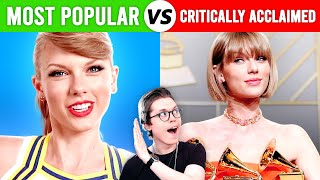 Singers' Most Popular vs Most Critically Acclaimed Songs