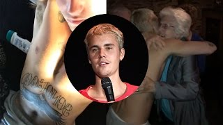 Justin Bieber Reveals TWO Huge New Tattoos & Dances Shirtless With Mystery Girl
