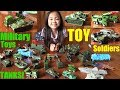 TOY SOLDIERS Playtime with Hulyan and Maya! Military Toy Tanks, Toy Planes and More! :-)