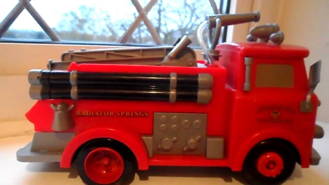 amazing red the disney cars fire engine truck toy youtube - Disney Cars Toys Truck