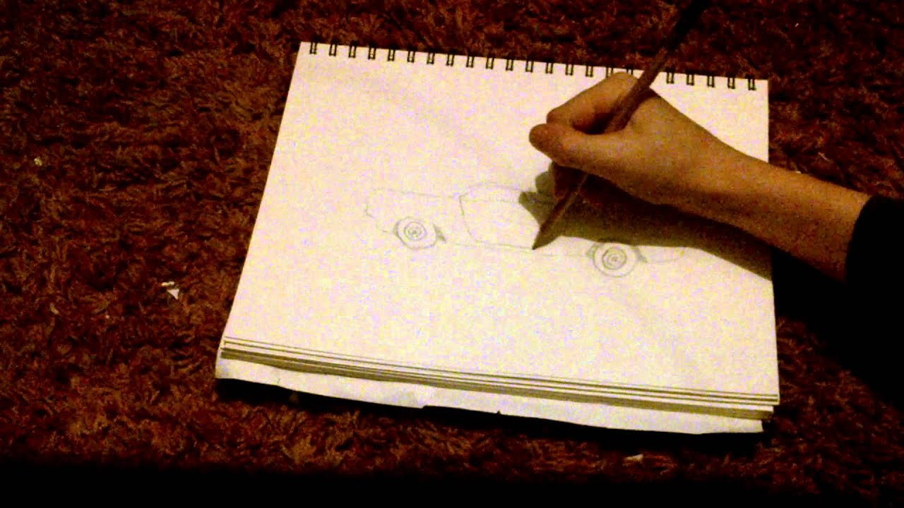 How To Draw Muscle Car Side View Youtube