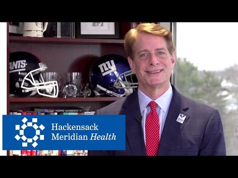Hackensack Meridian Health Co-CEO Robert C. Garrett Thanks Eli Manning - NFL