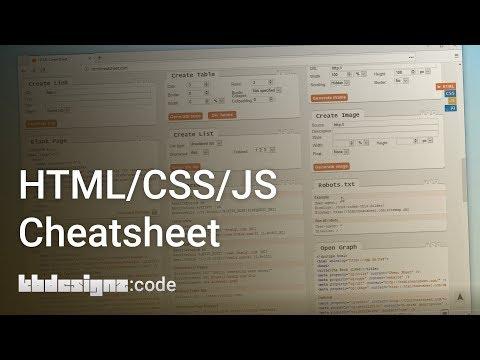 HTML/CSS/JS CHEATSHEET ONLINE | Kbdesignz:code